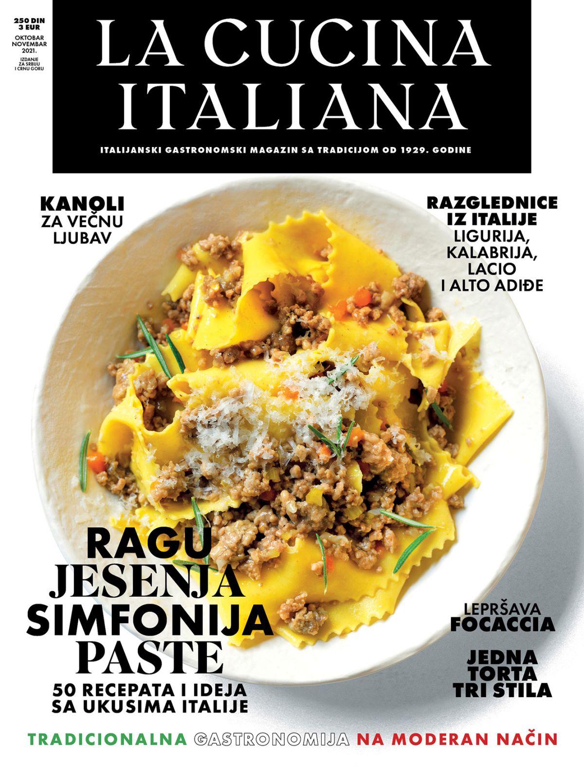 Naslovna LA CUCINA ITALIANA broj 012